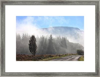 Fog On The Road To Fintry Framed Print by RKAB Works