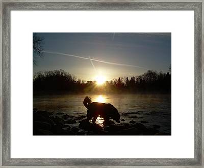 Framed Print featuring the photograph Fog Over Mississippi River by Kent Lorentzen