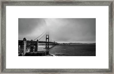 Fog Over The Golden Gate Bridge Framed Print
