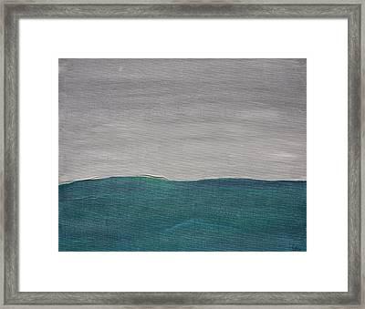 Fog Over The Ocean Framed Print
