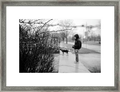 Framed Print featuring the photograph Fog Rain by Jeanette O'Toole