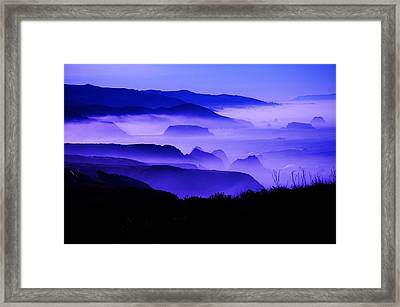 Fog Rising Framed Print
