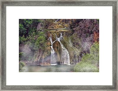 Fog Rolling In Framed Print by Joan Bertucci