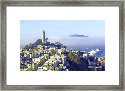 Fog Rolling In Framed Print