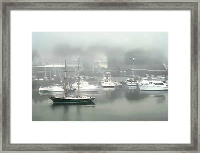 Fog Rolls In Framed Print