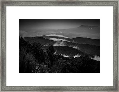 Fog Rolls In Framed Print by Robert Davis
