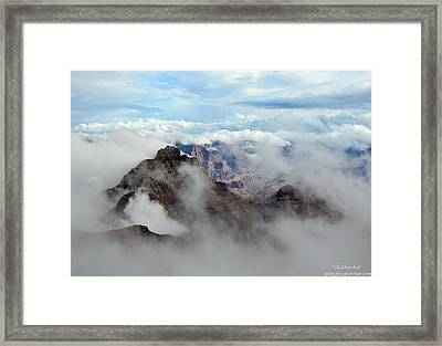 Fog Shrouded Vishnu Temple  Framed Print