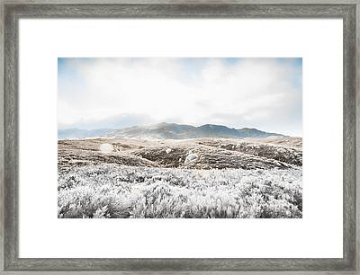 Fog Snow And Ice Landscape Framed Print by Jorgo Photography - Wall Art Gallery