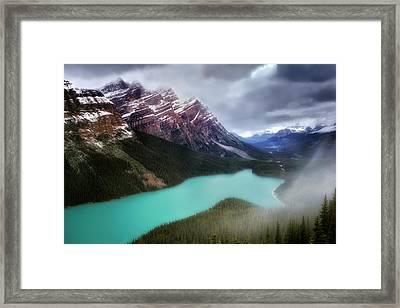 Fog Swirls Framed Print