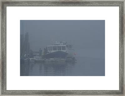 Fogged In At Owls Head Framed Print