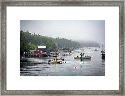 Foggy Afternoon In Mackerel Cove  Framed Print by Rick Berk