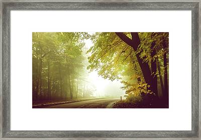 Foggy Autumn Morning Framed Print by Art Spectrum