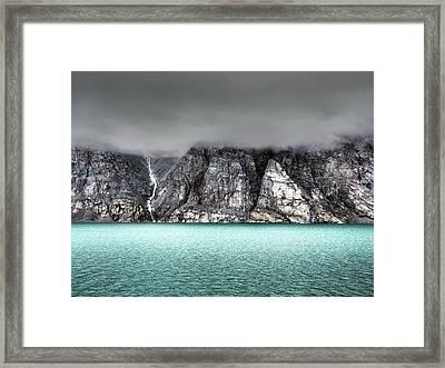 Foggy Baffin Island Framed Print