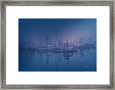 Foggy Bay Front Framed Print