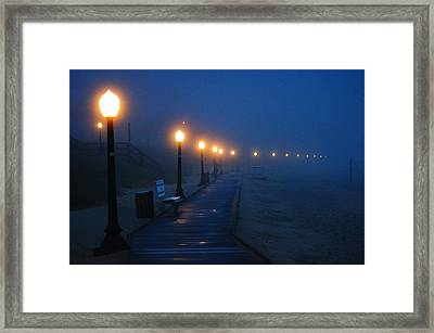 Foggy Boardwalk Blues Framed Print by Bill Pevlor