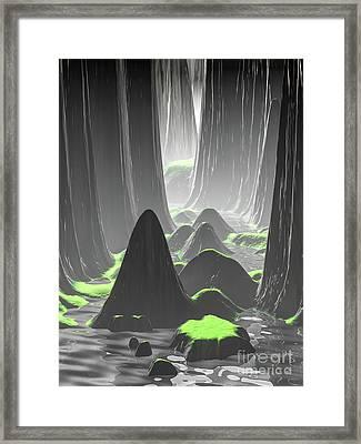 Foggy Canyon Walls Framed Print
