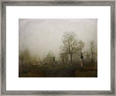 Foggy Churchyard   Framed Print