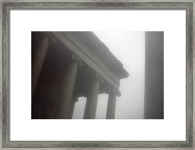 Foggy Coloumn Framed Print by Jez C Self