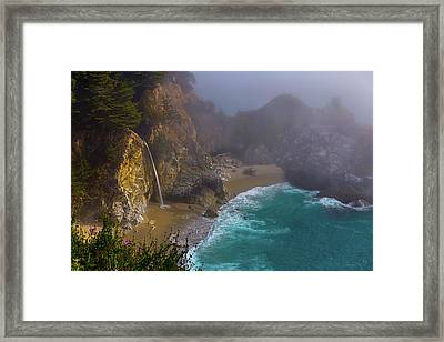 Foggy Cove Framed Print by Garry Gay