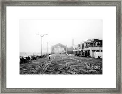 Foggy Day At Asbury Park Framed Print