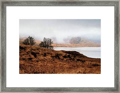 Foggy Day At Loch Arklet Framed Print