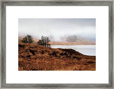 Foggy Day At Loch Arklet Framed Print