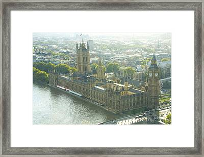 Foggy Day In London Town Framed Print by Charles  Ridgway