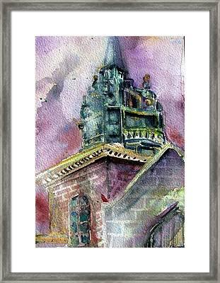 Foggy Day London Church Framed Print by Mindy Newman