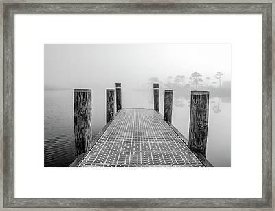 Framed Print featuring the photograph Foggy Dock In Alabama  by John McGraw