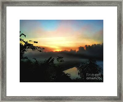 Foggy Edges Sunrise Framed Print