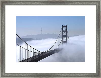 Foggy Golden Gate Bridge Framed Print by Chuck Kuhn