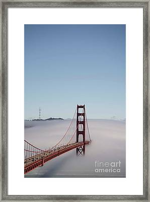 Framed Print featuring the photograph Foggy Golden Gate by David Bearden