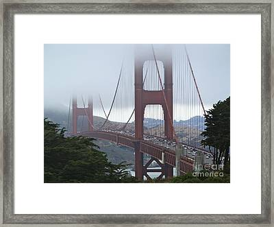 Foggy Golden Gate Framed Print