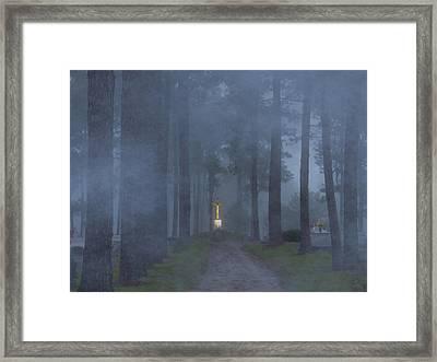 Foggy Hallowed Ground Framed Print