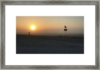Foggy Hawkeye Sunrise  Framed Print