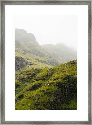 Framed Print featuring the photograph Foggy Highlands Morning by Christi Kraft