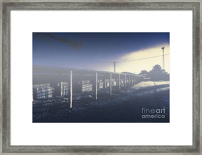 Foggy Horse Stables Framed Print by Jorgo Photography - Wall Art Gallery