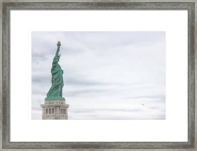 Foggy Liberty Framed Print by Martin Newman