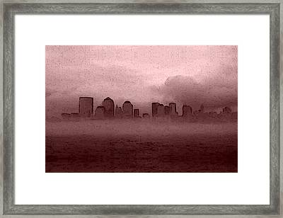 Foggy Manhatten Warm Framed Print