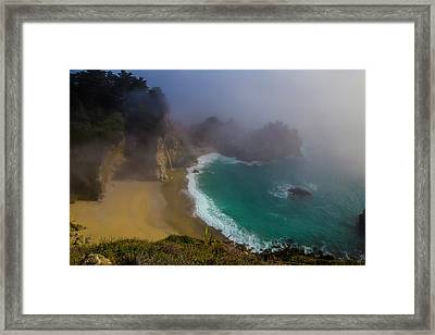 Foggy Mcway Falls Cove Framed Print by Garry Gay