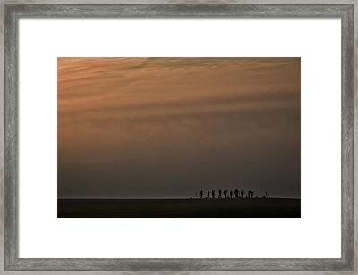 Framed Print featuring the photograph Foggy Moravian Morning - Czech Republic by Stuart Litoff