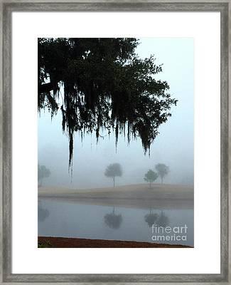 Foggy Morn Reflections Framed Print