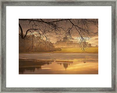 Framed Print featuring the photograph Foggy Morning by Gouzel -
