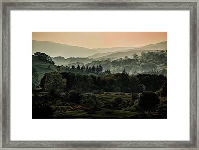 Foggy Morning In Lake District Framed Print