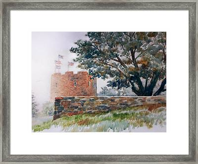 Foggy Morning In Maine Framed Print by Don Getz