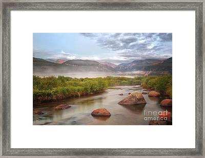 Foggy Morning In Moraine Park Framed Print