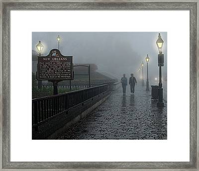 Foggy Morning In New Orleans Framed Print by Mitch Spence