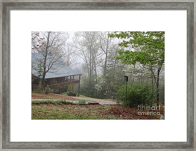 Foggy Morning In The Mountains Framed Print by Marilyn Carlyle Greiner
