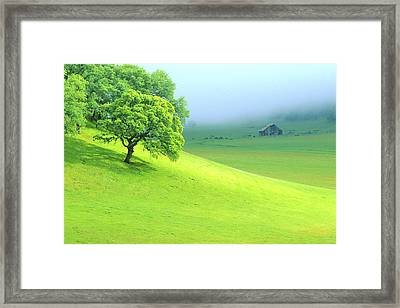 Foggy Morning In The Valley Framed Print by Eggers Photography