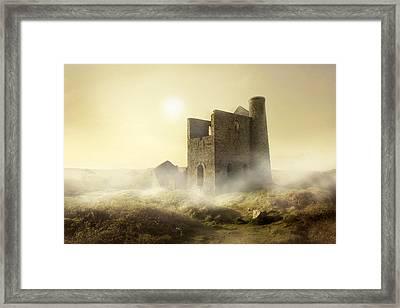 Foggy Morning In Western Uk Framed Print